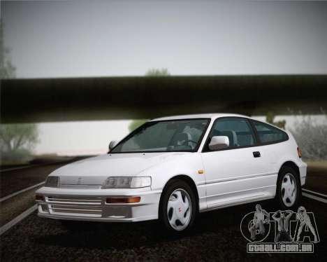 Honda CR-X 1991 para GTA San Andreas traseira esquerda vista