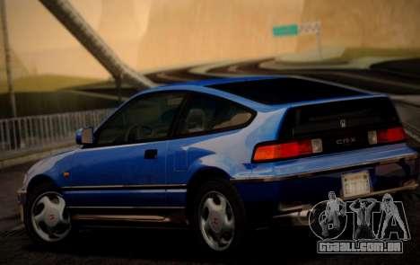 Honda CR-X 1991 para GTA San Andreas esquerda vista