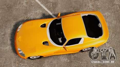 Dodge Viper 1996 para GTA 4 vista direita