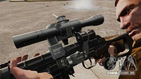 Dragunov sniper rifle v2 para GTA 4 por diante tela