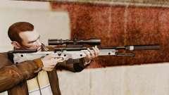 Rifle de sniper L115A1 AW com um v6 de silenciad