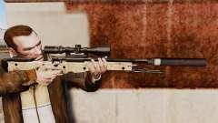 Rifle de sniper L115A1 AW com um silenciador v9