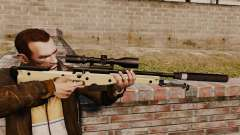 Rifle de sniper L115A1 AW com um silenciador v2