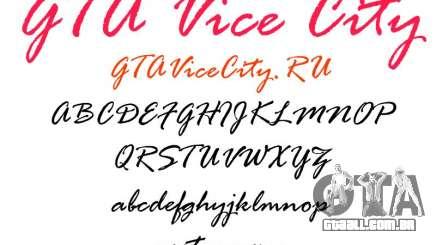 A fonte oficial para GTA Vice City para GTA Vice City