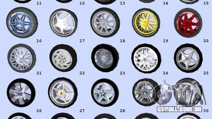 Super Wheel Mods v2 para GTA Vice City