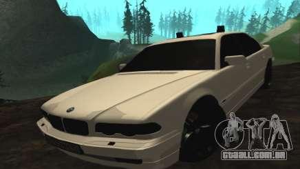 BMW 750iL E38 com luzes piscando para GTA San Andreas