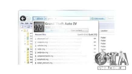 OpenIV 0.9.3 para GTA 4