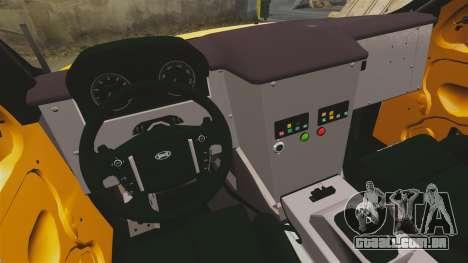 Land Rover Bowler Pick UP para GTA 4 vista interior