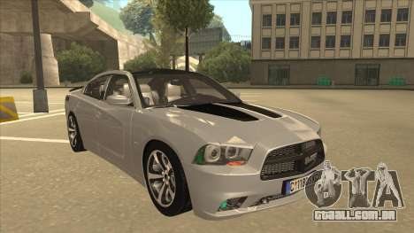 Dodge Charger RT Daytona 2011 V1.0 para GTA San Andreas esquerda vista