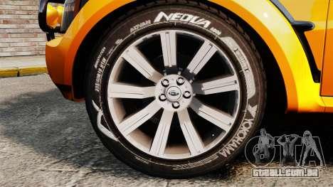 Land Rover Bowler Pick UP para GTA 4 vista de volta