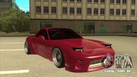 Mazda RX7 FD3S Rocket Bunny para GTA San Andreas esquerda vista