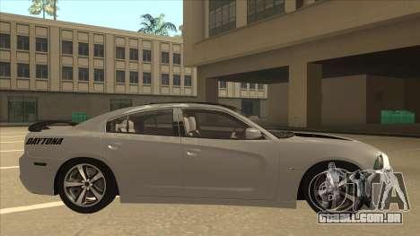 Dodge Charger RT Daytona 2011 V1.0 para GTA San Andreas traseira esquerda vista