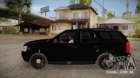 Chevrolet Tahoe LTZ 2013 Unmarked Police para GTA San Andreas esquerda vista
