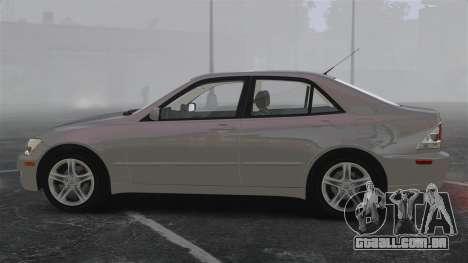 Lexus IS300 para GTA 4 esquerda vista