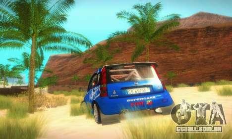 Fiat Panda Rally para GTA San Andreas vista traseira