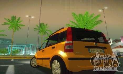 Fiat Panda Taxi para GTA San Andreas traseira esquerda vista