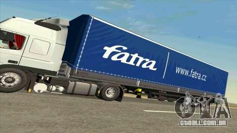 Kogel trailer para Volvo FM16 para GTA San Andreas traseira esquerda vista