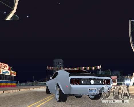 Ford Mustang Anvil para GTA San Andreas traseira esquerda vista