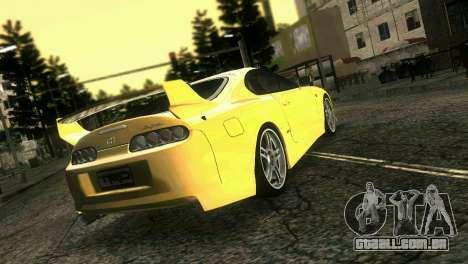 Toyota Supra TRD para GTA Vice City deixou vista