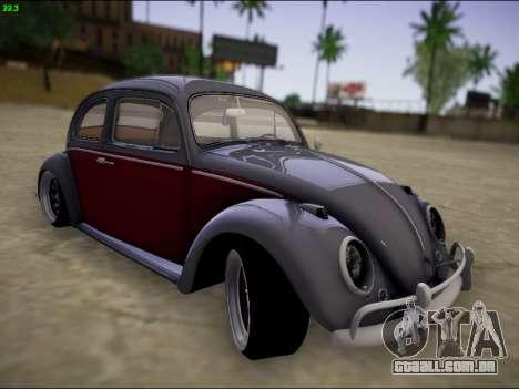 Volkswagen Beetle para GTA San Andreas vista interior