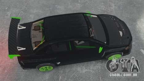 Mitsubishi Lancer Evolution VII Freestyle para GTA 4 vista direita