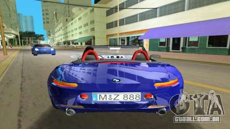 BMW Z8 para GTA Vice City interior