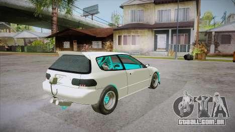 Honda Civic (EG6) Drag Style para GTA San Andreas vista direita