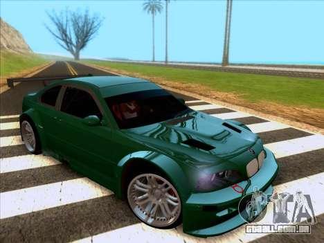 BMW M3 E46 GTR para GTA San Andreas esquerda vista