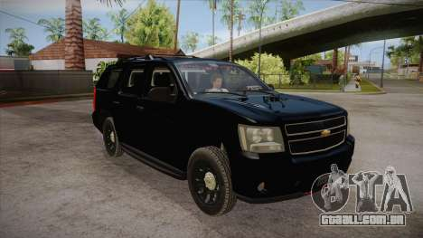 Chevrolet Tahoe LTZ 2013 Unmarked Police para GTA San Andreas vista traseira
