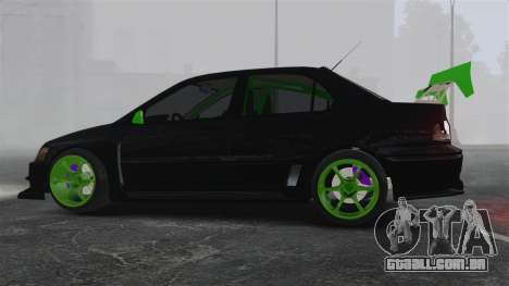 Mitsubishi Lancer Evolution VII Freestyle para GTA 4 esquerda vista