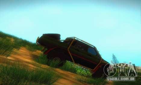 UAZ Patriot Pickup para GTA San Andreas traseira esquerda vista