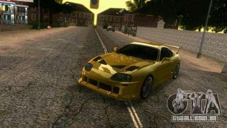 Toyota Supra TRD para GTA Vice City vista lateral