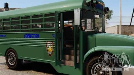 O ônibus da prisão, Nova Iorque para GTA 4 vista de volta
