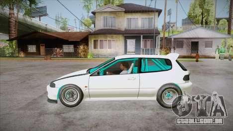 Honda Civic (EG6) Drag Style para GTA San Andreas esquerda vista