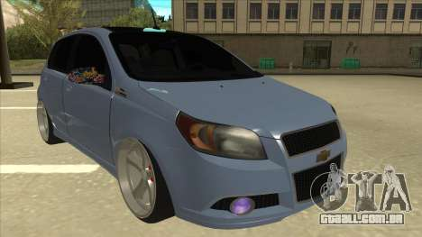 Chevrolet Aveo LT para GTA San Andreas esquerda vista