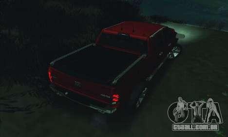 Dodge Ram 2500 HD para GTA San Andreas vista inferior