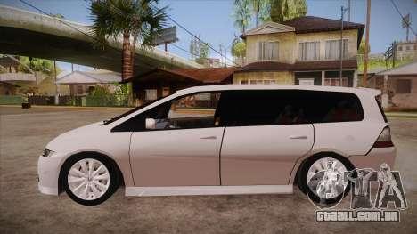 Honda Odyssey v1.5 para GTA San Andreas esquerda vista
