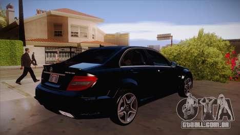 Mercedes-Benz C 63 AMG para GTA San Andreas vista traseira