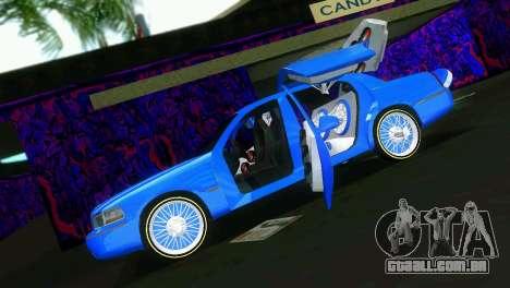 Lincoln Town Car Tuning para GTA Vice City vista traseira