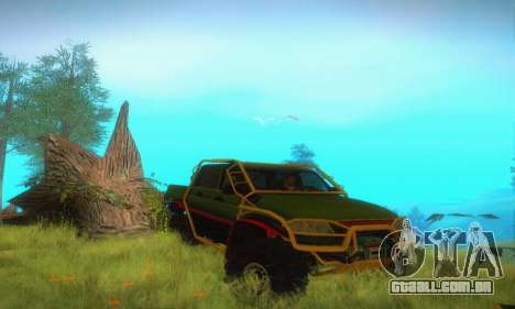 UAZ Patriot Pickup para GTA San Andreas vista interior