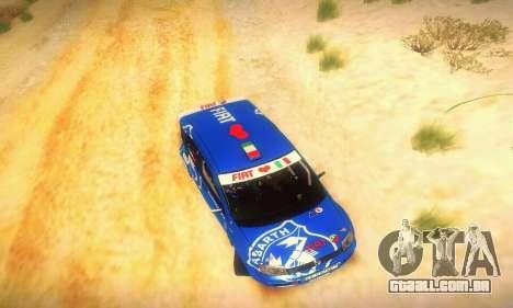 Fiat Panda Rally para vista lateral GTA San Andreas