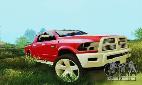 Dodge Ram 2500 HD para vista lateral GTA San Andreas