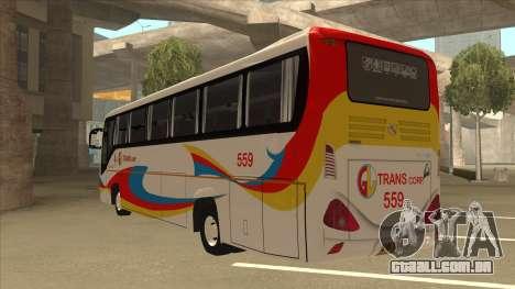 Kinglong XMQ6126Y - GL Trans 559 para GTA San Andreas vista traseira