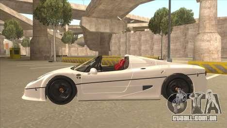 Ferrari F50 GT TT Black Revel para GTA San Andreas vista interior