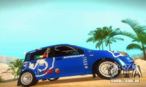 Fiat Panda Rally para GTA San Andreas traseira esquerda vista