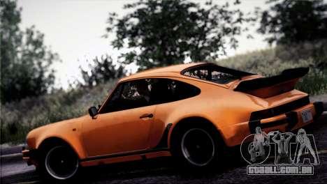 Porsche 911 Turbo 3.3 Coupe 1982 para GTA San Andreas vista inferior