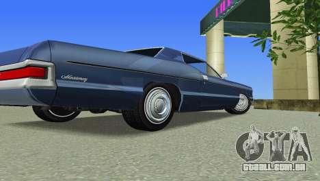 Mercury Monterey 1972 para GTA Vice City vista traseira