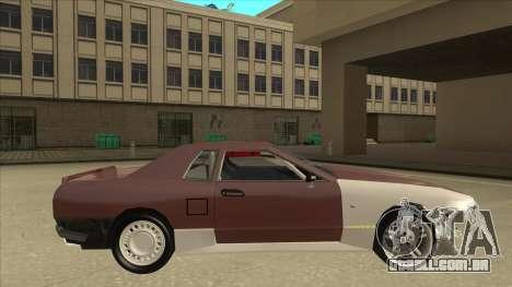 Elegy Drift Missile para GTA San Andreas traseira esquerda vista