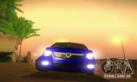 Vauxhall Agila 2011 para vista lateral GTA San Andreas