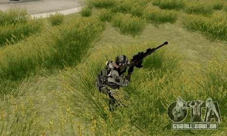 Barrett M82 de Battlefield 4 para GTA San Andreas por diante tela